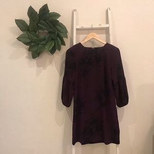[Ann Taylor] NWT Purple and Black Floral Dress